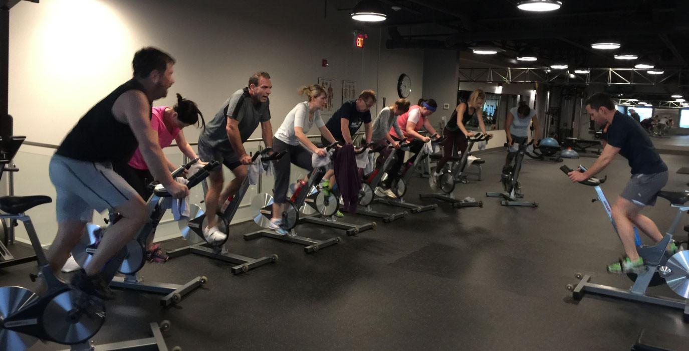 Spin classes at TrueForm Edmonton